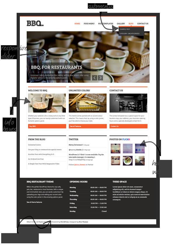 BBQ - Restaurant WordPress Theme - 1